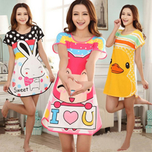 2015 summer style Hot Sale New arrival Women's Cartoon Polka Dot Sleepwear Short Sleeve Sleepshirt super Cute