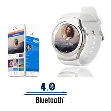 Роскошных умные часы № 1 T2 G3 мода Bluetooth SmartWatch часы переносные устройства фитнес трекер для IOS android-коммуникатор