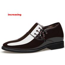 Merkmak/2020 Мужские модельные туфли; Мужская официальная Свадебная обувь с острым носком; модные туфли из искусственной кожи; Туфли-оксфорды на ...(China)