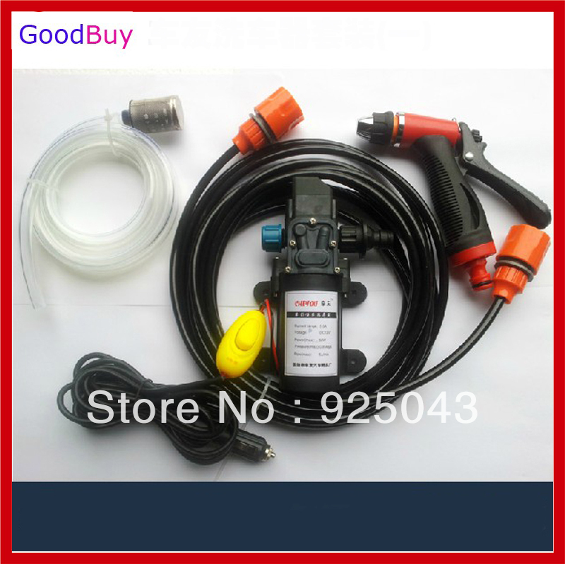 New Cigarette Socket powered portable 12v 60w car washing device car washer washing gun water pump Auto wash clean machine(China (Mainland))