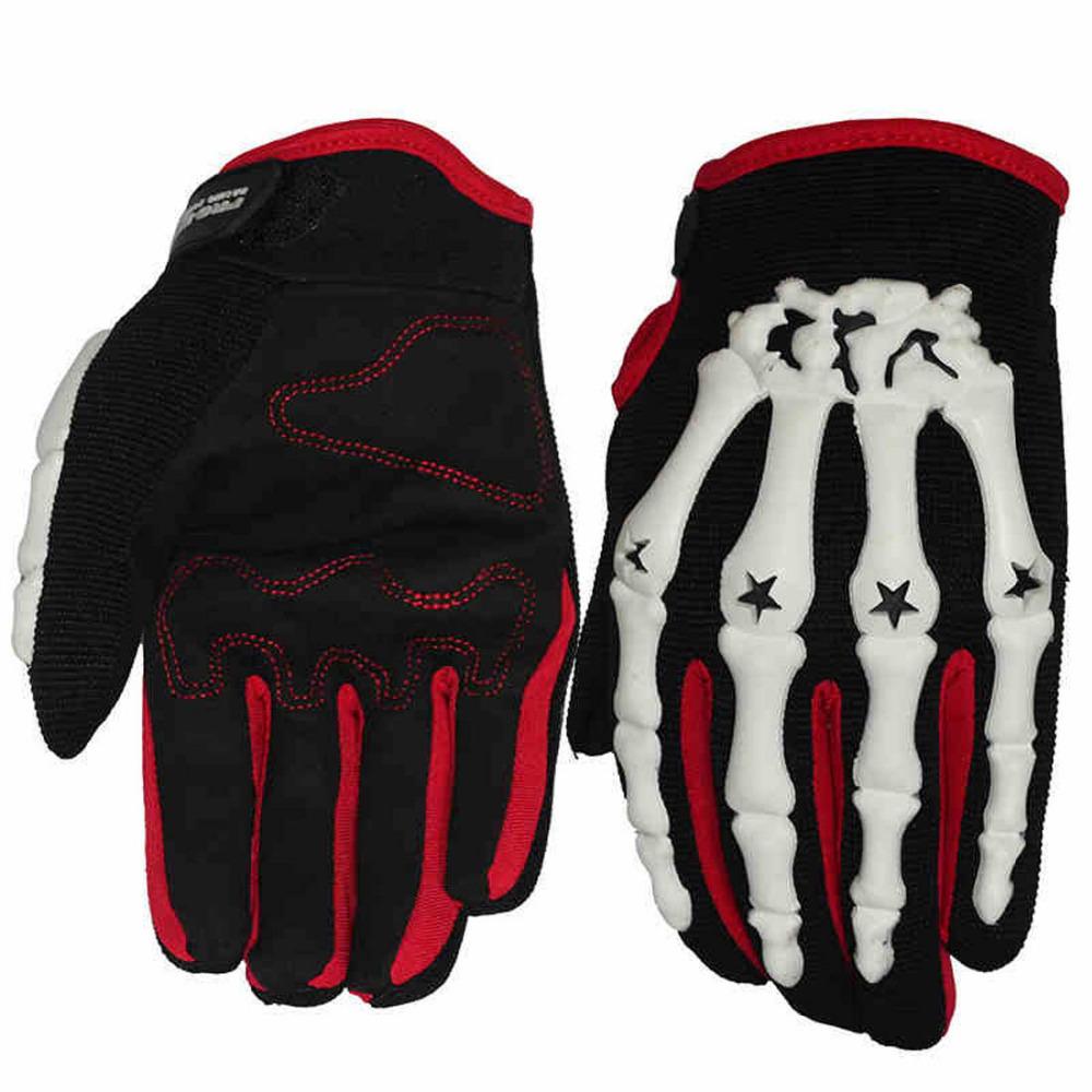 Leather motorcycle skeleton gloves - Skeleton Motorcycle Gloves