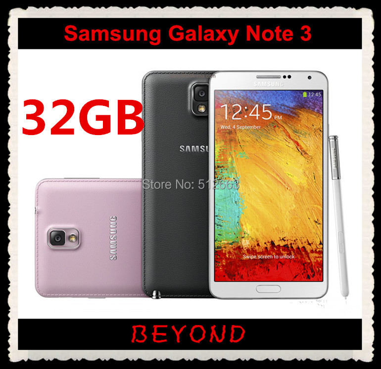 "Samsung Galaxy Note III N9005 32GB Original Unlocked 3G&4G GSM Android Mobile Phone SM-N9005 Quad-core 5.7"" 13MP WIFI GPS"