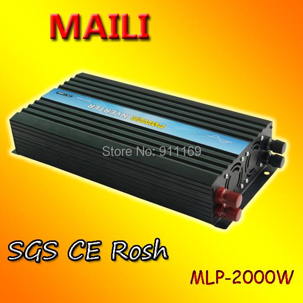 Free shipping off grid solar inverter, home inverter invertor 2000watts 2kw 24v to 240v& five star service(China (Mainland))
