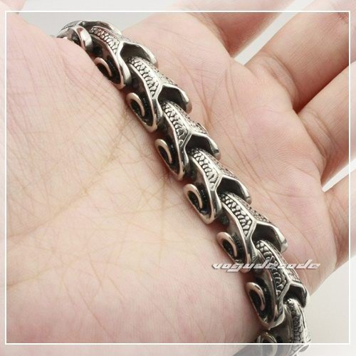 Bracelet 316L Stainless Steel Mens Dragon 5D004 Length Customizable  -  voguecode store