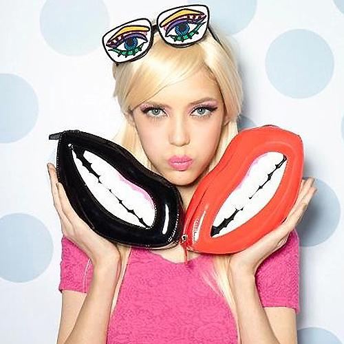 Сексуальный губы персонализированные mini сцепление вечернее мешок леди наплечная сумка цепь мешок через тело сумка-мессенджер свободного покроя портмоне