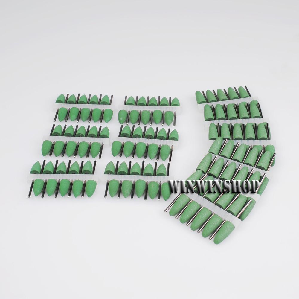 Colorful Dental SILICONE Polishers Resin Base Acrylic Polishing Burs 120Pcs