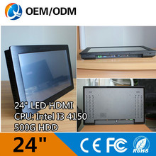 "Buy 24 "" industrial pc one computer panel pc Resolution 1920x1080 Capacitive touch i3 cpu 3.5GHz 2GB DDR3 32G SSD for $946.96 in AliExpress store"