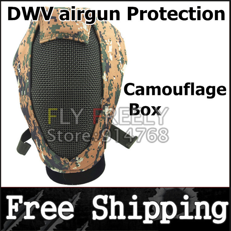 Upgraded version steel mesh fencing mask protect war game battle camouflage face paintball masks outdoors - Shantou Fly Freely Industry Co.,Ltd. store