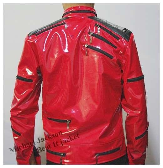 редкие МДж Майкл Джексон красный бить его молнии блестками кожаный жакет производительности имитация шоу коллекции подарков Хэллоуин
