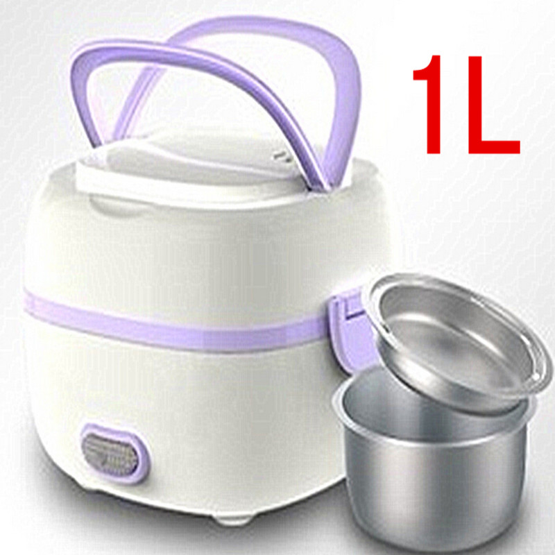 hot sale mini rice cooker electric lunch box full automatic bento box 220v 1l heat preservation. Black Bedroom Furniture Sets. Home Design Ideas