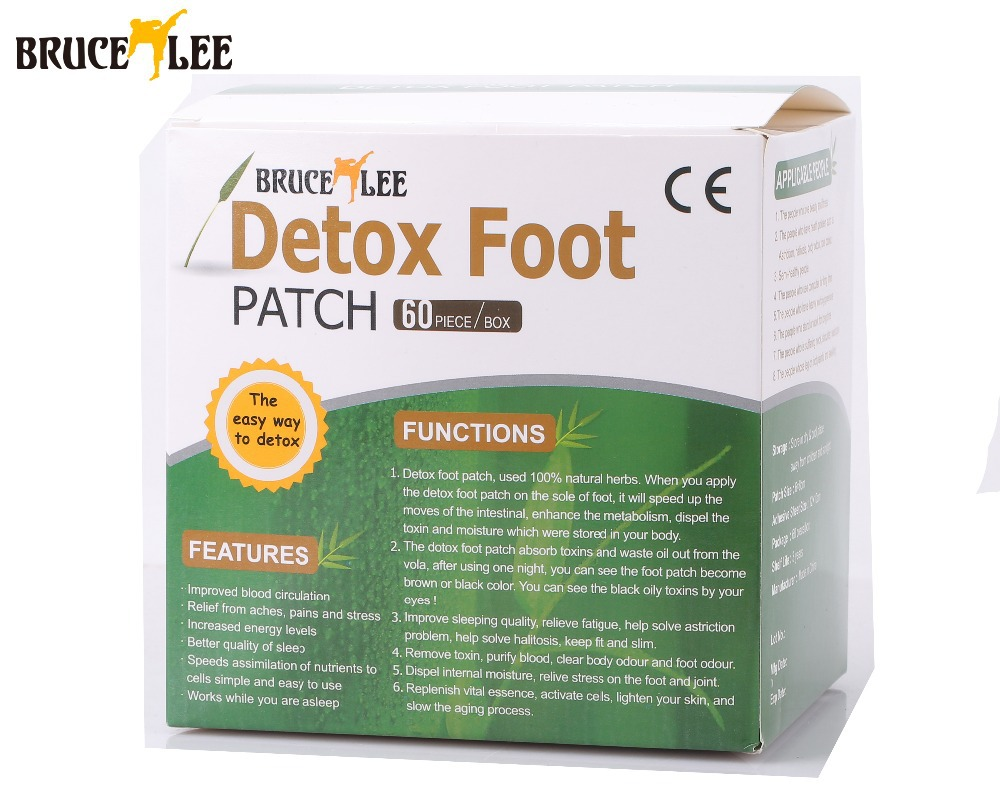 120 Piece=60pcs Patches+60 pcs Adhesives Bruce Lee Gold Detox Foot Patch Bamboo Vinegar Pads Improve Sleep Beauty Slimming Patch(China (Mainland))