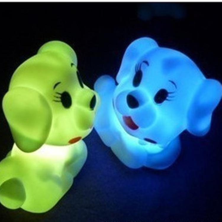 2016 light small toy new cute pet dog colorful Nightlight Home Furnishing night lamp(China (Mainland))