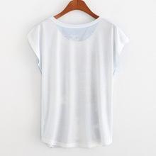 2015 summer new women s short sleeve T shirt digital printing trade explosion models AliExpress