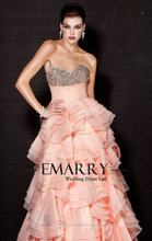 INM-226 New Fashion 2017 Sweetheart Off The Shoulder Vestido de noiva Long Prom Dress Tiered Elegant Long Formal Evening Gown(China (Mainland))
