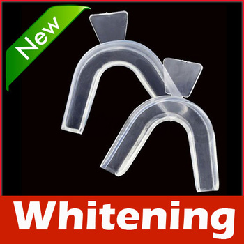 Pair Thermoforming Mouth Dental Teeth Whitening Trays Bleaching Tooth Whitener