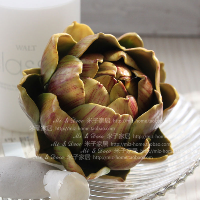 American country high simulation flowers artificial home decoration artichoke/pineapple head (Without pole) - newlly liu's store