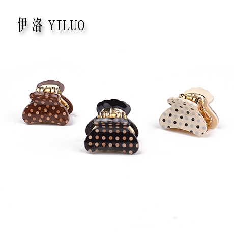 Sweet Dot Hair Clip Claw Clamp Golden Teeth -Small Size 3 pieces/bag(China (Mainland))