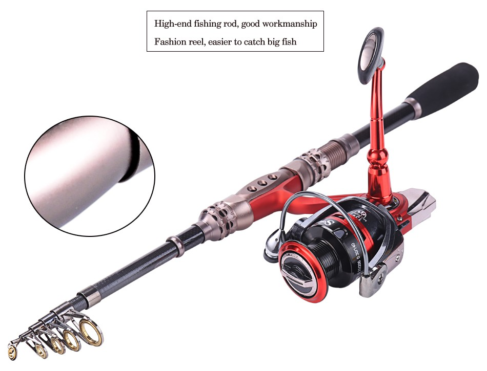 Alloy fishing rod and reel tackle combo set spinning for Saltwater fly fishing combo