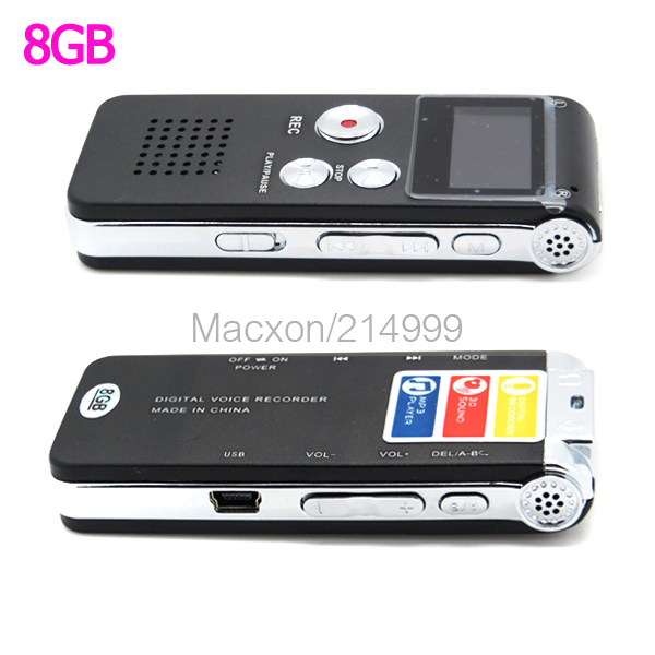 8GB MP3 Player Voice Recorder USB Digital Audio Voice Sound Recorder(China (Mainland))