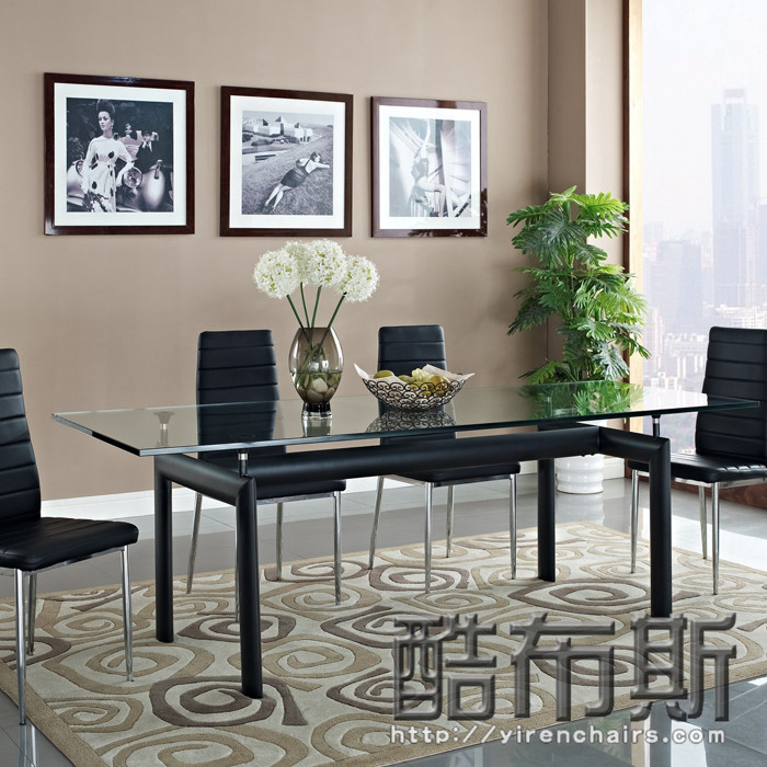 cool booth lc6 glass dinette table size apartment modern