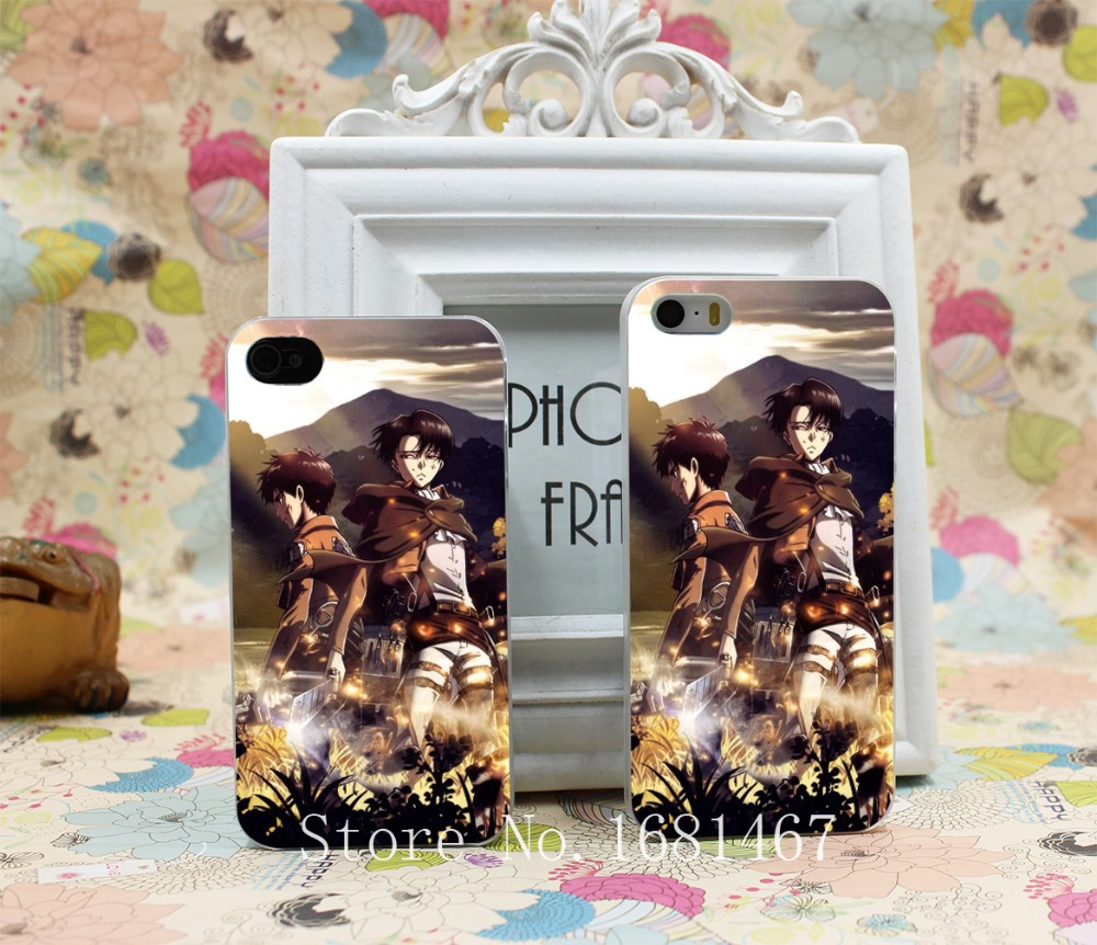 Attack On Titan Eren Jaeger Rivaille Amazing Hard Clear Skin Case Cover for iPhone 4 4s 5 5s 5g 1PC(China (Mainland))