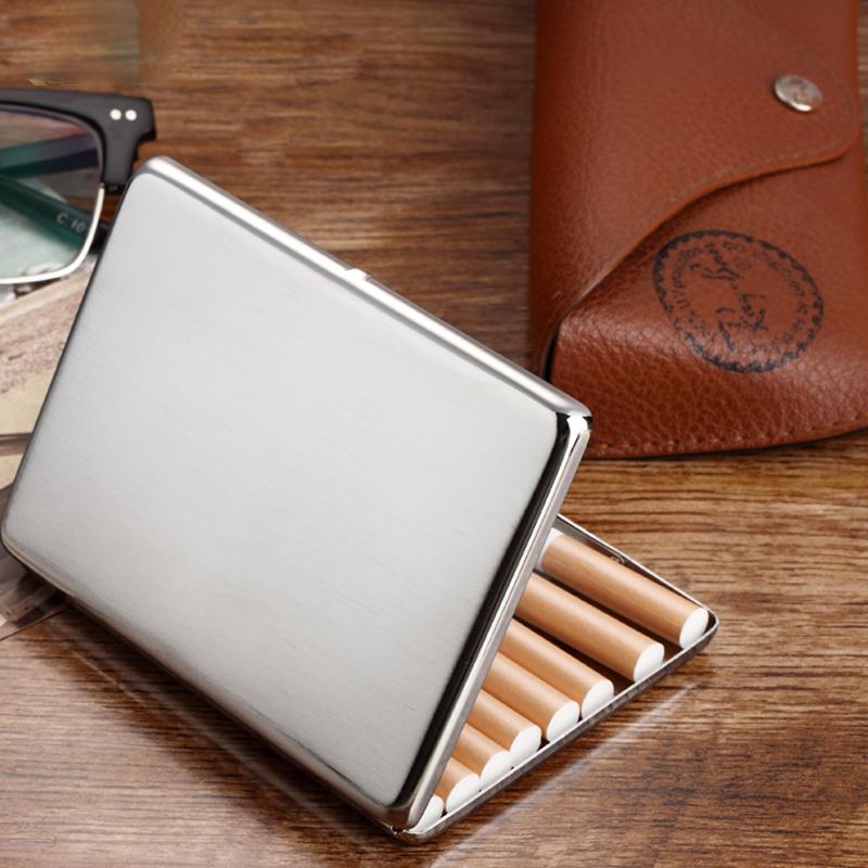Fumador alivio pitillera de Metal para 10 cigarrillos antigua caja de fumar tabaco caso para hombre con caja de regalo CB02(China (Mainland))