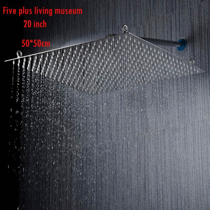 Купить 2015 новое прибытие 20 дюймов 50*50 см ультра тонкий экономия воды насадка для душа/ручной душ 304 SUS зеркало/никель щеткой