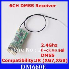 10pcs/lot DM660E MICROLITE 6CH DMSS Receiver for JR XG6 XG7 XG8 XG11 Free Shipping