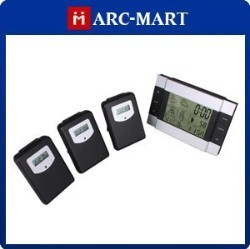 Wireless Weather Station RF indoor/outdoor temperature Clock + 3 Remote Sensors #ZA023