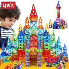 New 164pcs Mini Magnetic Designer Construction Set Model & Building Toy Plastic Magnetic Blocks Educational Toys For Kids Gift(China (Mainland))
