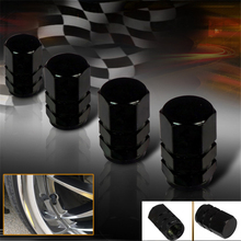 4Pcs/Pack Universal Fit Aluminum Wheel Tire Air Valve Stem Caps For Car Bicycles Motorcycle Black(China (Mainland))