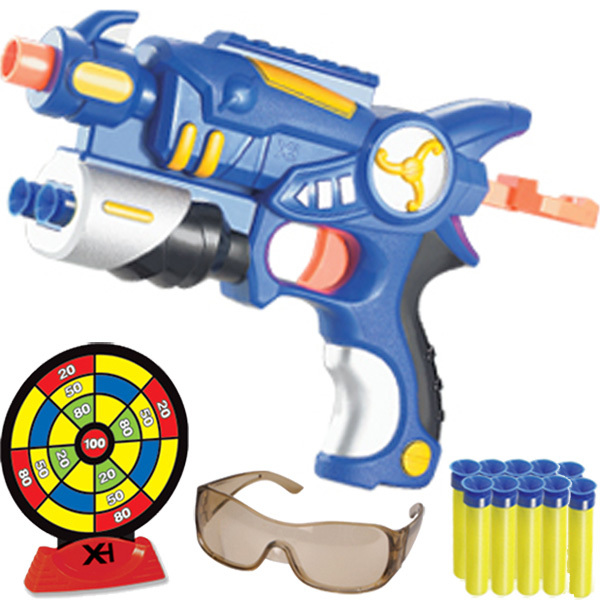 Wholesale Toy soft bullet gun pistol safety goggles target soft bullet gift box set