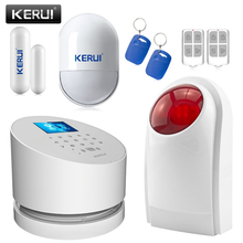 Buy NEW KERUI great W2 GSM Wifi Alarm Systems Security Home TFT Color UI menu LCD display IP Camera Wireless Flash Siren for $89.99 in AliExpress store