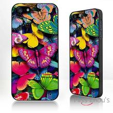 For iphone 4/4s 5/5s 5c SE 6/6s plus ipod touch 4/5/6 back skins mobile cellphone cases cover Butterfly collage
