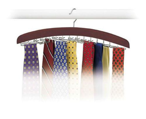 1PCS Hardwood Walnut 24 Tie Hanger Clost Accessories Necktie Belt Organizer for Men(China (Mainland))