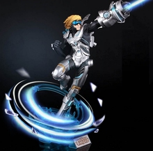 New 30cm game Ezreal EZ pvc action future warrior figure model toy collectible juguetes hot sale Free shipping
