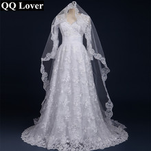 Buy QQ Lover 2017 Sexy Long Sleeves Lace Vestido De Noiva Veil Custom-Made Bridal Gown Wedding Dress for $88.48 in AliExpress store