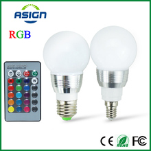 Buy E27 LED RGB Bulb Lamp AC110V 220V 5W E14 Spot Light Dimmable Magic Holiday RGB Lighting IR Remote Control 16 Colors 270 Degree for $2.49 in AliExpress store