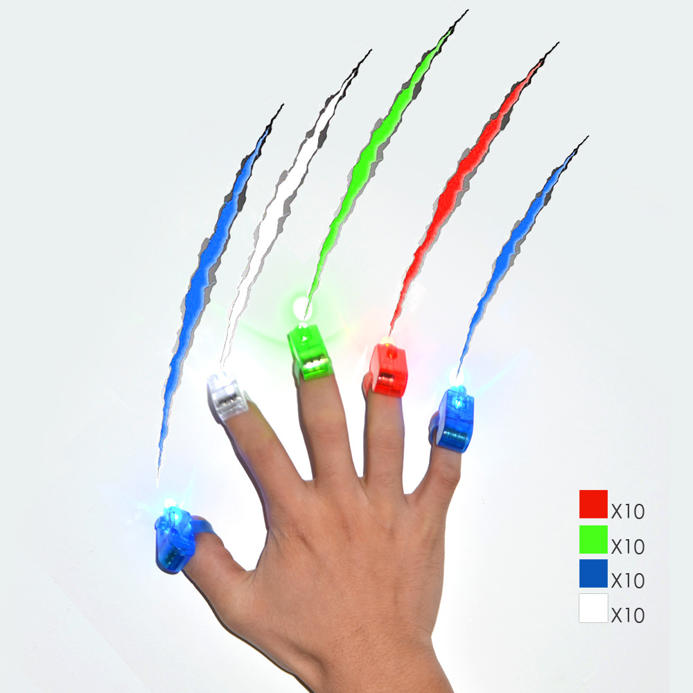 40 Pcs / Lot LED Finger Lights for Christmas and Other Festival in Party(China (Mainland))