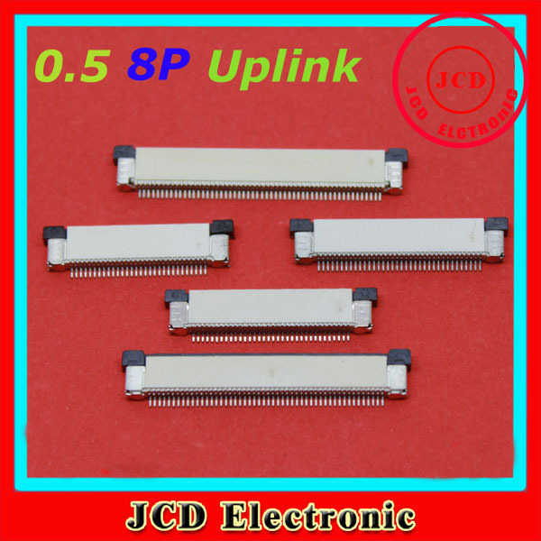 product FPC/FFC Connectors Drawer Type Flat Flex Cable Socket 10pcs/lot 8Pin Spacing 0.5mm Uplink Made in China
