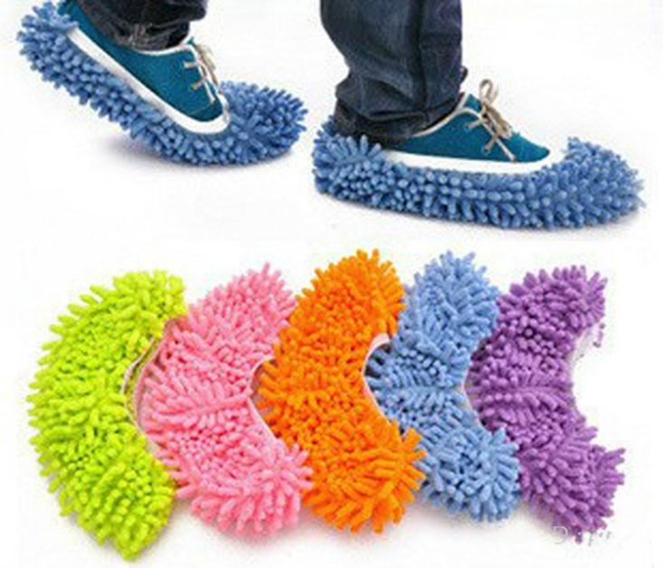 5 Colors 1pcs Dust Mop Slipper House Cleaner Lazy Floor Dusting Cleaning Foot Shoe Cover(China (Mainland))