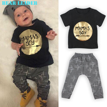 Bear Leader Summer 2016 2pcs Newborn Infant Baby Boys Kid Clothes T-shirt Tops + Pants Outfits Sets 0-24 Children's Clothing Set(China (Mainland))