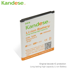 2 pcs lots Kandese High Quaity 1900mAh Lithium ion Battery Replacement for phone SAMSUNG Galaxy Ace