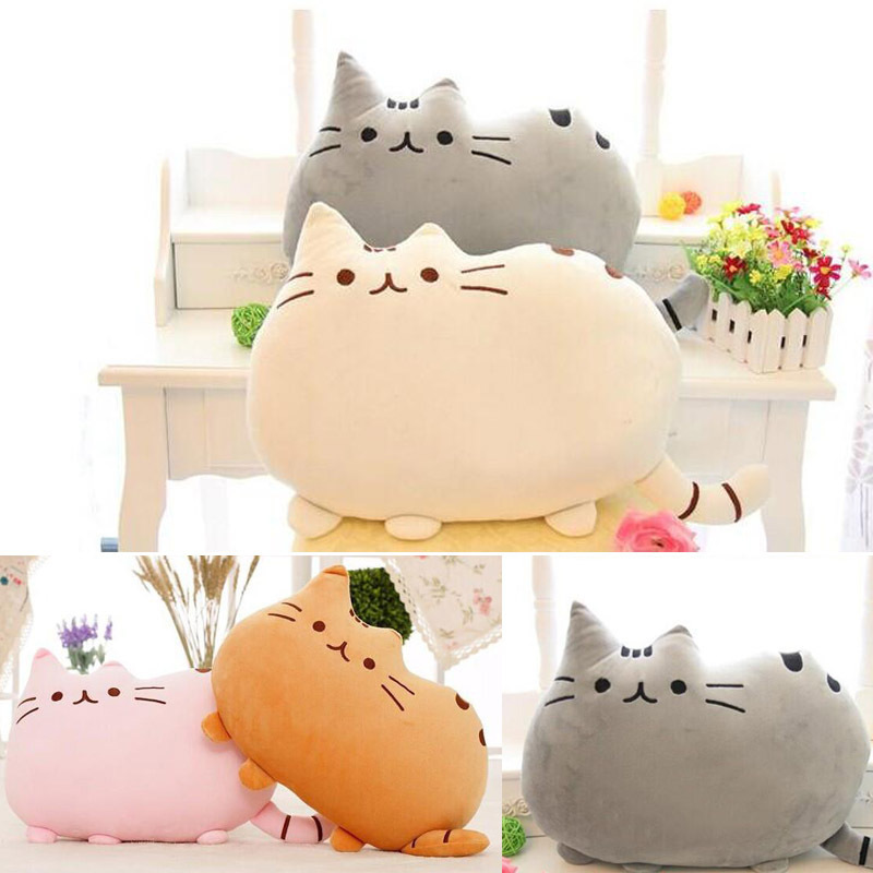 Гаджет  New Pusheen Pillows Cat Sleeping Peluches Anime Pillow With Zipper Only Skin Without PP Cotton Biscuits Big Cushion Anime Plush  None Игрушки и Хобби