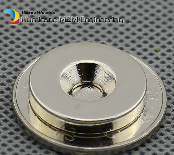 200 pc NdFeB Disc Countersunk Magnet 19.05 od x 3.175 mm thick M4 hole 3/4 od*1/8 N42 Neodymium Rare Earth Permanent Magnet<br><br>Aliexpress