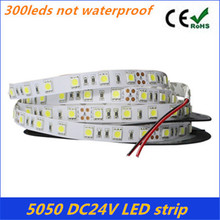 Hot sale 5050 DC24V Non-waterproof RGB Led Strip Light 5M 300Leds 60Leds/M Fiexble Light Led Ribbon Tape Home Decoration Lamp(China (Mainland))