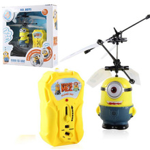 New Aircraft Model Toy Children Kids Boy Toys Birthday Gift Despicable Me 2 Minion Helicopter 1pc free shipping(China (Mainland))