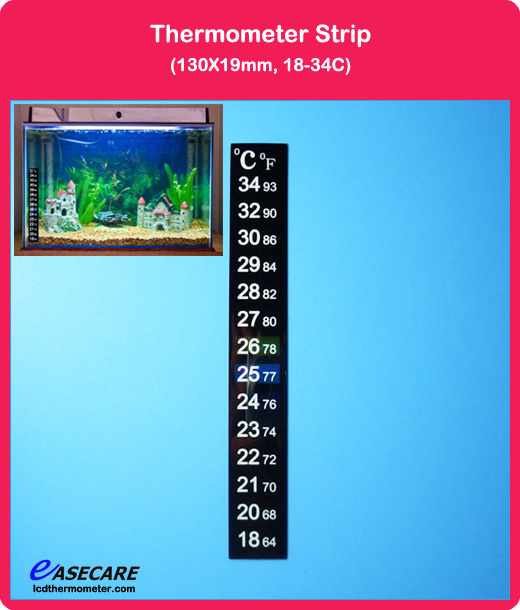Aquarium Thermometer for Fish Tank, 18-34 degree in Celsius and Fahrenheit scale, 1,000pcs/lot, Free Shipping by DHL(China (Mainland))