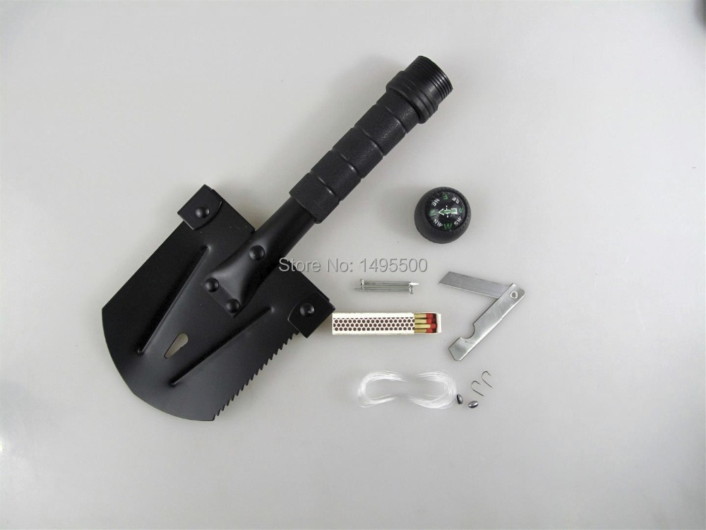 Compact Survival Camping Shovel w/ many features(China (Mainland))
