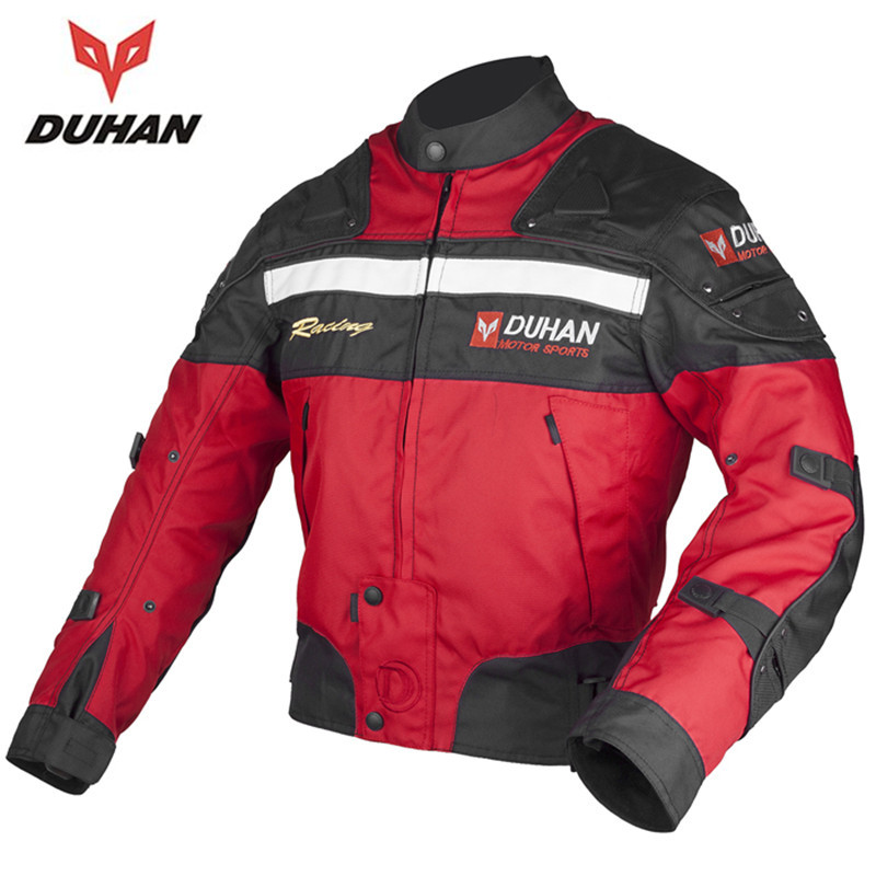 DUHAN Motorcycle racing jackets Body Armor Protective Moto Jacket Motocross Off-Road Dirt Bike Riding Windproof Jaqueta Clothing